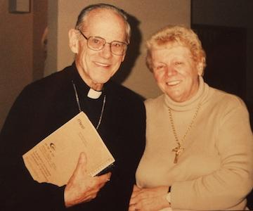 Eileen George with Archbishop Pierce