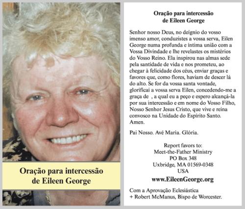 Prayer card in Portuguese